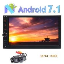 rear Camera Android 7.1 Car Stereo 2 din Autoradio Head Unit in Dash 3D GPS Navigation Bluetooth FM AM RDS Radio None-DVD Player