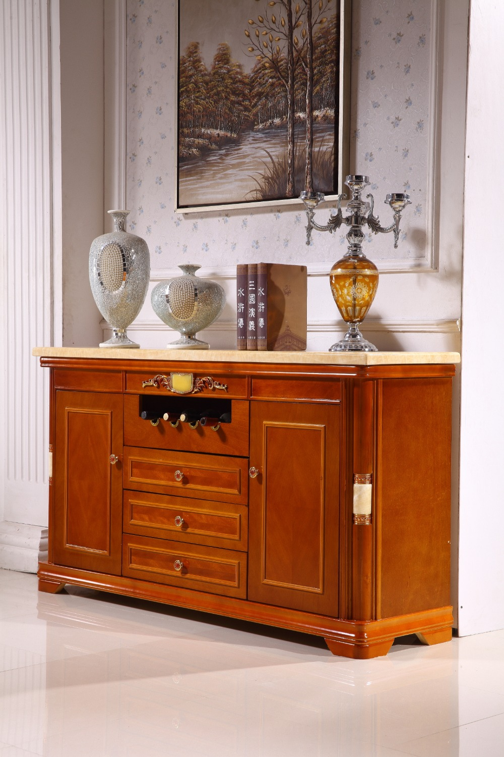 Buy Wooden Console Table Side Cabinet