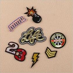 1 pièces Délicate Broderie Patch pour Vêtements Fer sur Brodé Coudre Tissu Badge Motif Vêtement bricolage Vêtements Appliques Accessoires