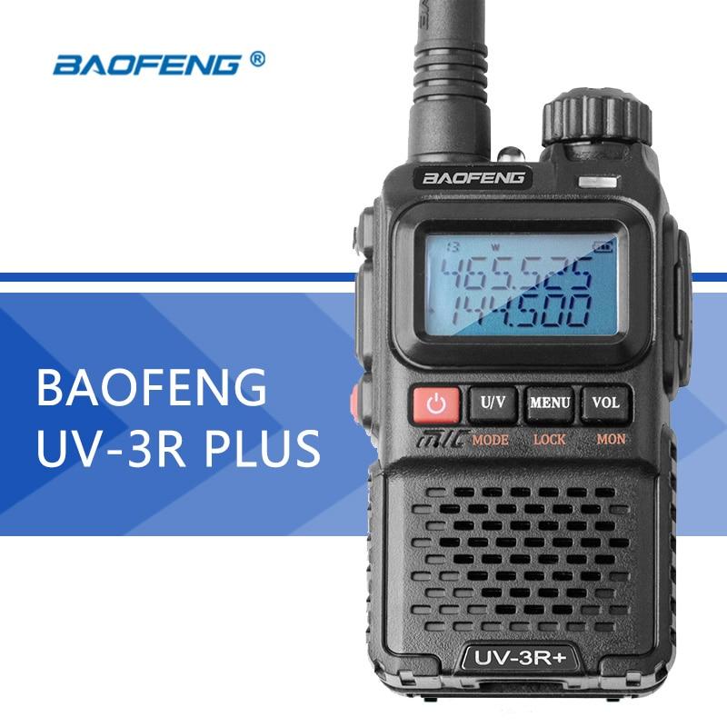 Baofeng UV-3R Plus Walkie Talkie Portable UHF VHF UV 3R+ CB Radio VOX Flashlight Mini FM Transceiver Ham Radio For Hunting