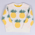Boys Girls Wool Sweater Children's Autumn Clothes Wool Sweaters Child Print pineapple Pullover Kids Cartoon Autumn Sweaters