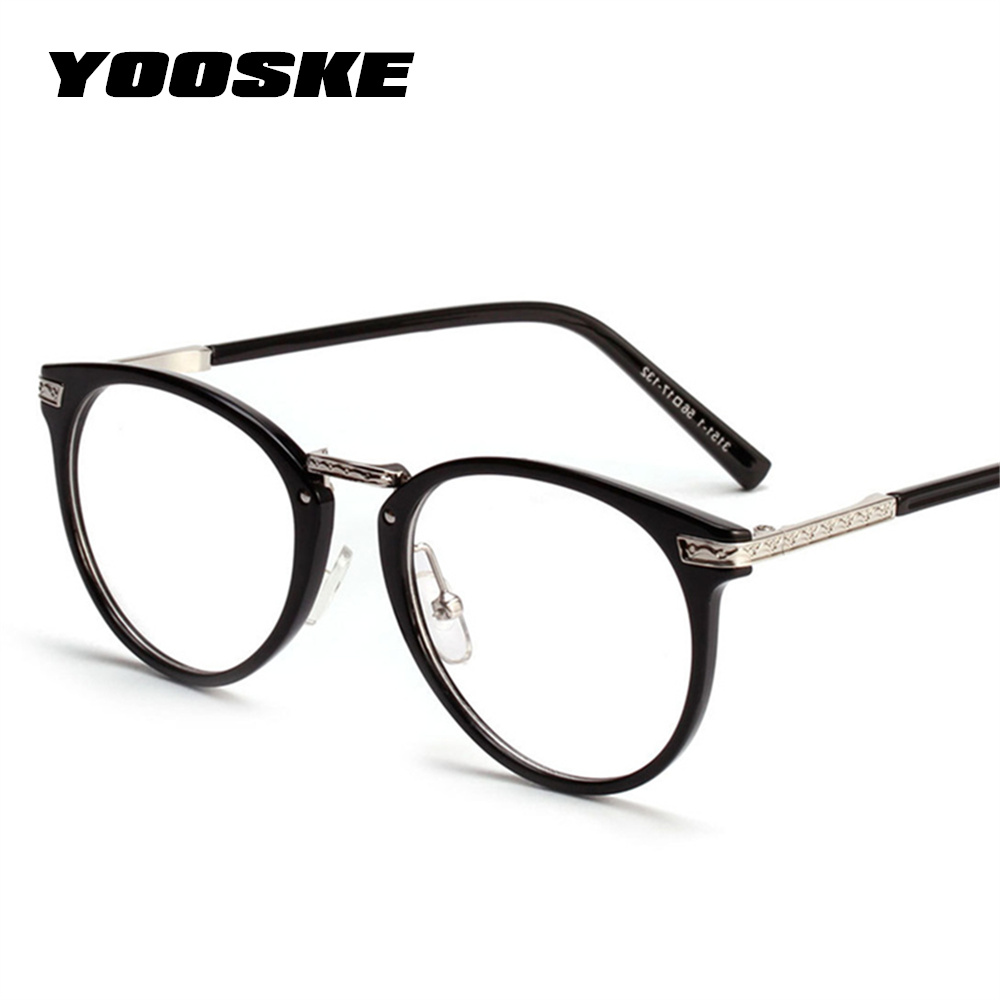 00fce23defda YOOSKE Women Oversized Glasses Frame Fashion Glasses Spectacles Eyeglasses  Frame Vintage Brand Designer Clear Lens Eyewear