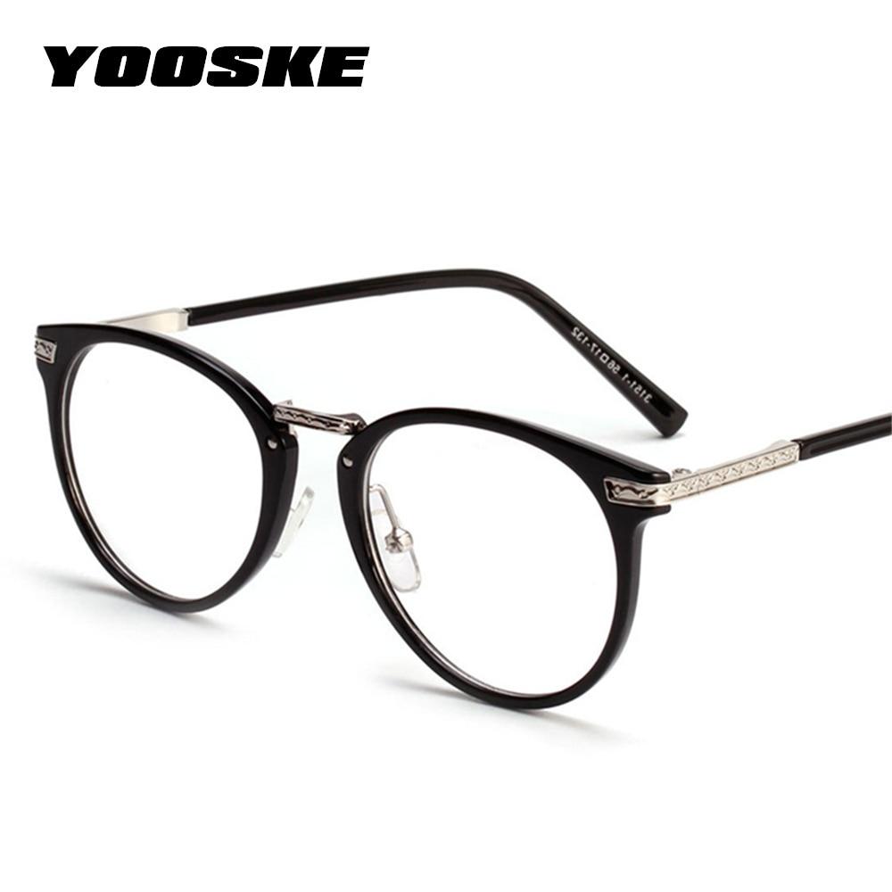 df9b1f2402d YOOSKE Women Oversized Glasses Frame Fashion Glasses Spectacles Eyeglasses  Frame Vintage Brand Designer Clear Lens Eyewear