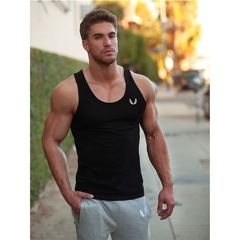 Fashion Hot Men Bodybuilding   Tank     Tops   Gyms   tank     top   Stringer   tank     top   men Vest Shirt bodybuilding   Tank     Top   O-Neck Golds TankTop