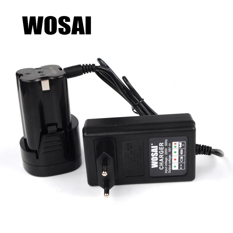 WOSAI 16V Trapano avvitatore a batteria al litio Caricabatterie - Accessori per elettroutensili - Fotografia 3