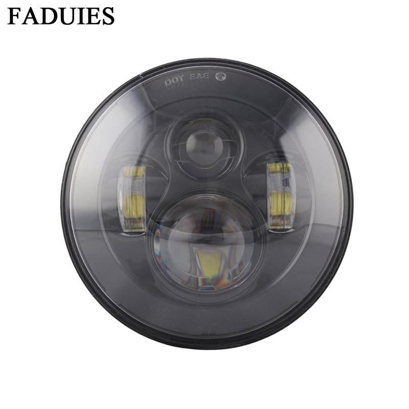 "FADUIES negru 7 inch 40W Motocicleta faruri LED Pentru motocicleta motocicleta 7 ""far condus"