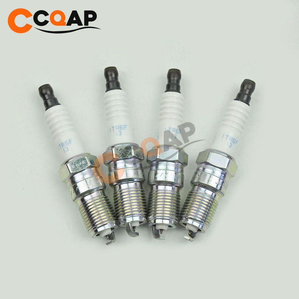 4x Iridium Spark Plug L3Y4-18-110 ITR6F-13 For Mazda3 Jaguar X-type Taurus Escape L3Y418110 ITR6F13
