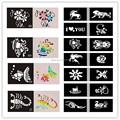 50pcs/lot Temporary Glitter Tattoo Stencil For Flash Body Paint-Airbrush Tattoo Template Mixed Designs Free Shipping