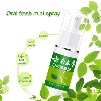 Teeth Cleaning Whitening Mint Spray Oral Deodorant Breath Freshener Improve The Breath of Mouth Oral Odor Fresh Spray Oral Care 1