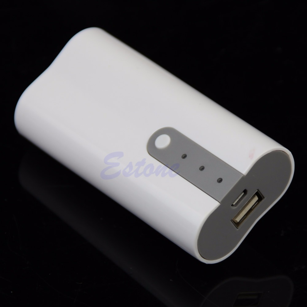 2x 18650 USB Mobile Power Bank Battery Charger Box Case DIY Kit For MP3 iPhone 5600mah 2x 18650 usb power bank battery charger case diy box for iphone for smart phone mp3 electronic mobile charging qiy25 d3s