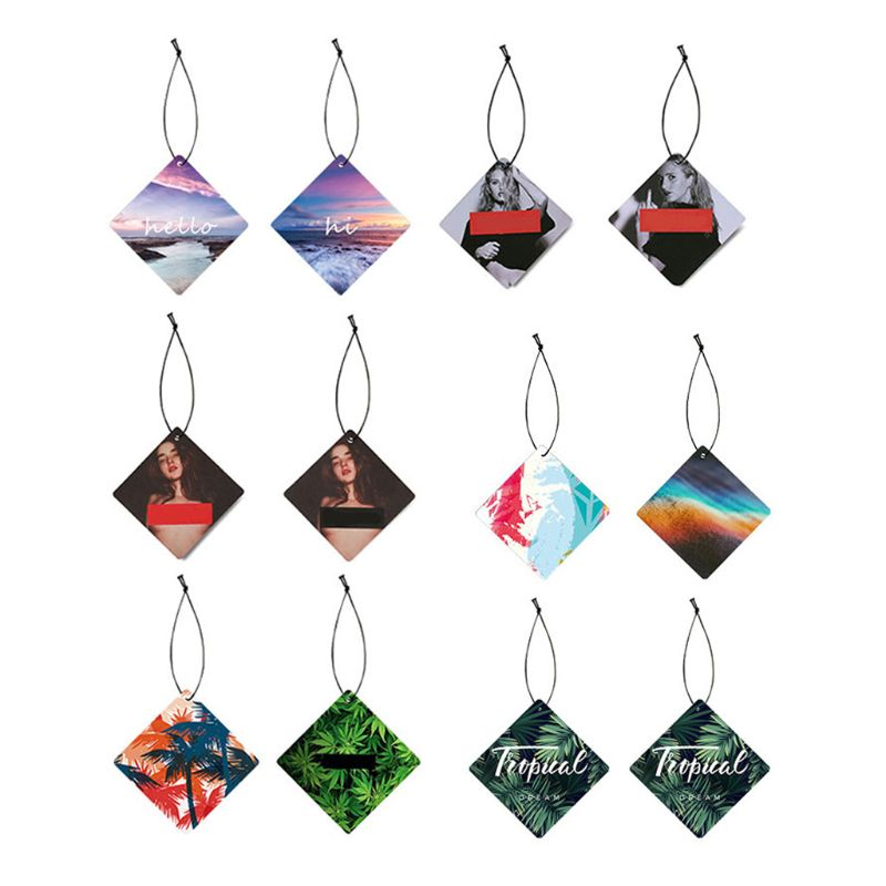 Automobiles & Motorcycles Colorful Unique Styling Hanging Car Solid Perfume Papers Car Air Freshener Interior Decoration Mirror Car Ornaments