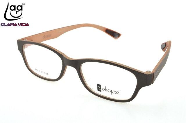 924f0ebbef Wood color TR90 Ultra Light Memory Nerd Glasses Frame Custom Made Optical  Prescription Myopia Glasses Photochromic