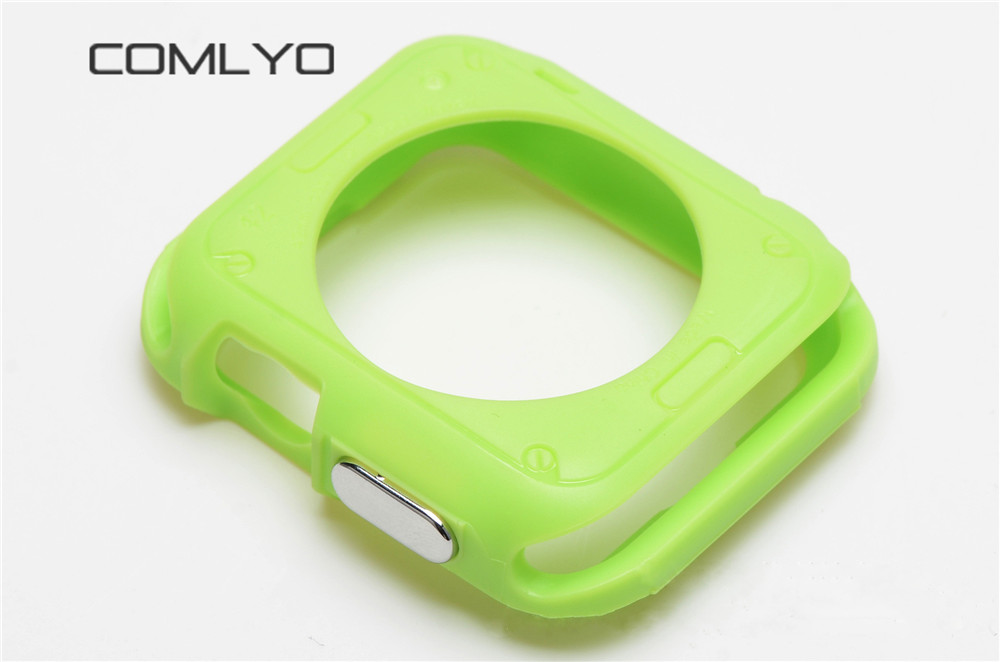 2PCS wholesale Silicone Luxury Ultra Thin Armor Soft cove TPU for iwatch Case Fo