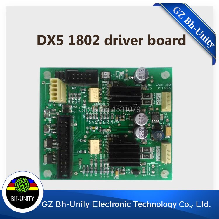 brand new!!  dx5 printhead driver board for inkjet printer galaxy 1802 slovent printer spare parts