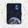 Kindle Paperwhite Case, Освещенные Тонкий Кожаный Чехол Fit Kindle Paperwhite1 2 3 2015 6th generation, звезда луна земля