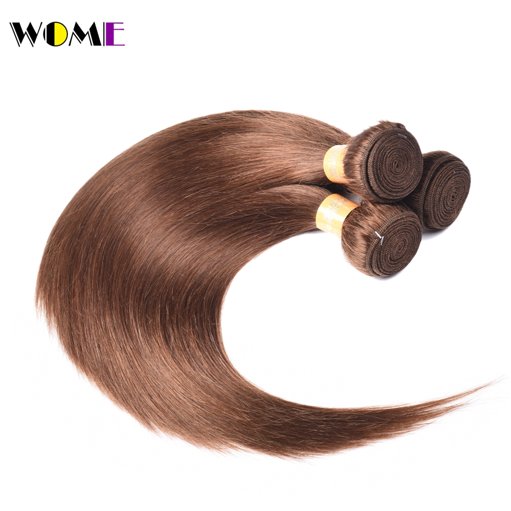 Wome Pre colored 4 hair bundle Indian Straight Hair Non remy Hair Weave Extension Dark Brown