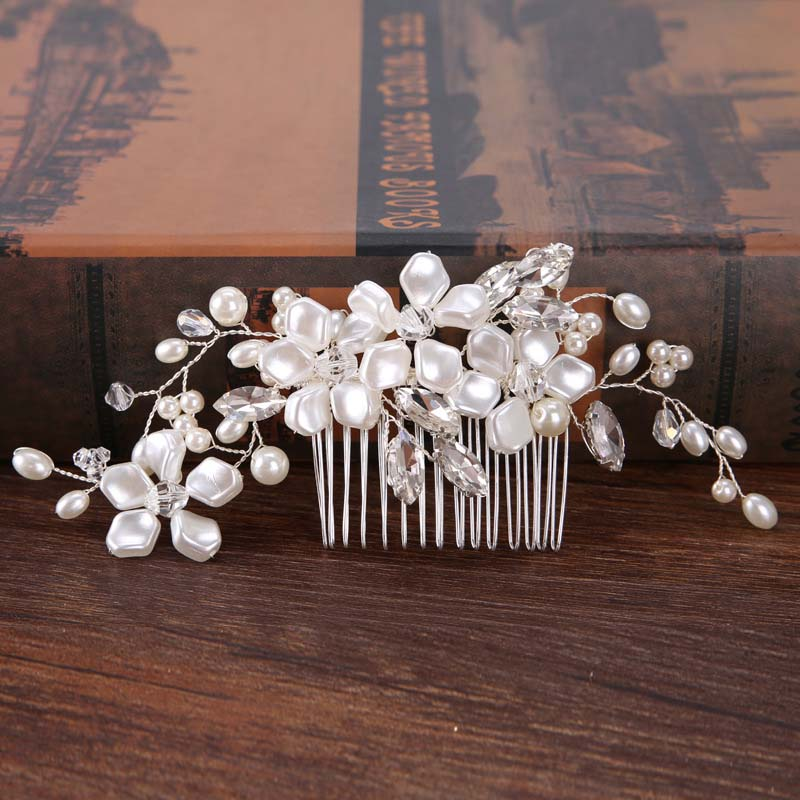 Romantic wedding jewelry hair Accessories For bride bouquet and pearl hair comb show Womens high-end and elegant