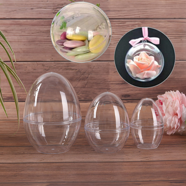 1Pc Plastic Clear Mould Reusable Eggs Shape Crafting DIY Bath Bomb Mold Home Hotel Decor For Christmas Gift Bath Care Tool 5
