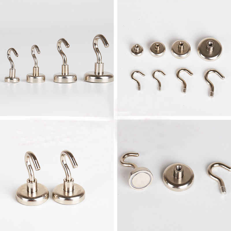 2018 Newest Useful Strong Mini Magnetic Circular Hook Hanger Magnets Linked Kitchen Wall Hold