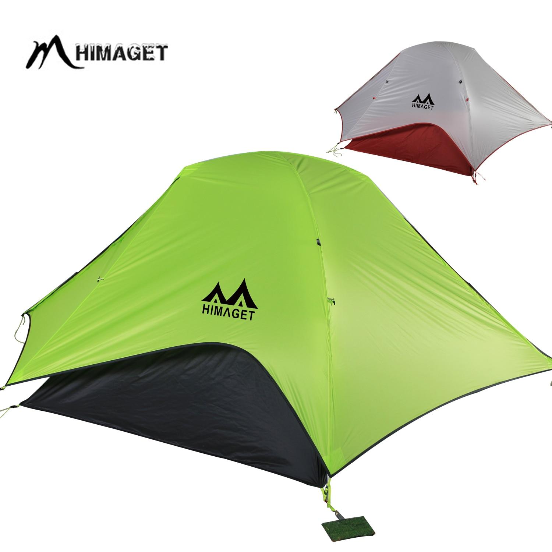 NEUE 20D Doppel Schicht Zwei Männer 2 Person Backpacking Familie Camping Zelt 3 Saison Reisen Leichte Wasserdichte