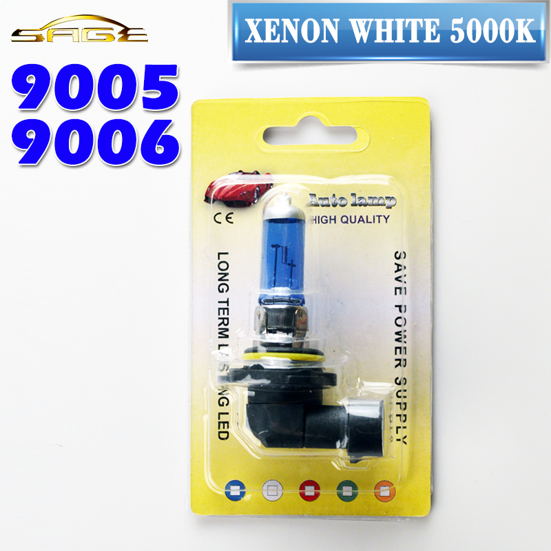 flytop Blister Card Package 9005 HB3 9006 HB4 Halogen Bulb Super White 12V 60W / 55W / 100W 5000K Xenon Dark Blue Car Headlight