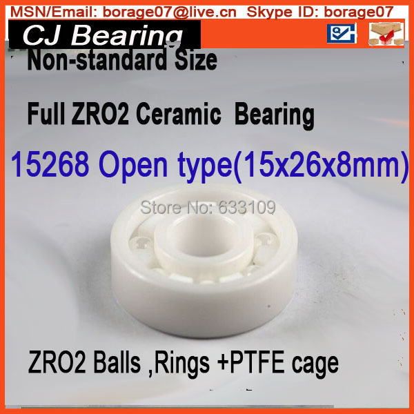 15268 Ceramic wheel hub bearing zro2 15268 15*26*8mm full zro2 ceramic bearing 15267 2rs 15 26 7mm 15267rs si3n4 hybrid ceramic wheel hub bearing