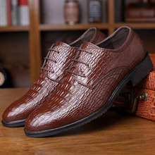 Men Fashion Breathable Solid Color Pointed Toe Lace-up Genuine Leather Rubber Shoes,Handmade Comfortable Leather Shoe Size 39-45 цены онлайн