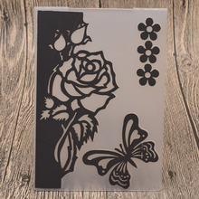 Flowers Plastic Embossing Folders for Valentines Day Wedding Card Making DIY Scrapbooking Paper Craft Template