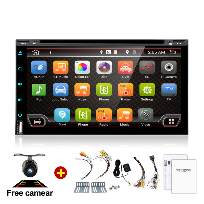 6 95 2Din 4 Core Android 6 0 Car Tap PC Tablet 2Din Radio Universal steering