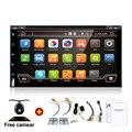 """7 """"2Din 4 Ядра Android 4.4 Автомобиль Кран Tablet PC 2 Din Радио Универсальный рулевого колеса Gps-навигация BT Радио Стерео Аудио плеер"""