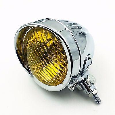 Chrome Metal 60W55W Headlight For Harley Dyna Sporster XL 883 1200 Softail Cafe