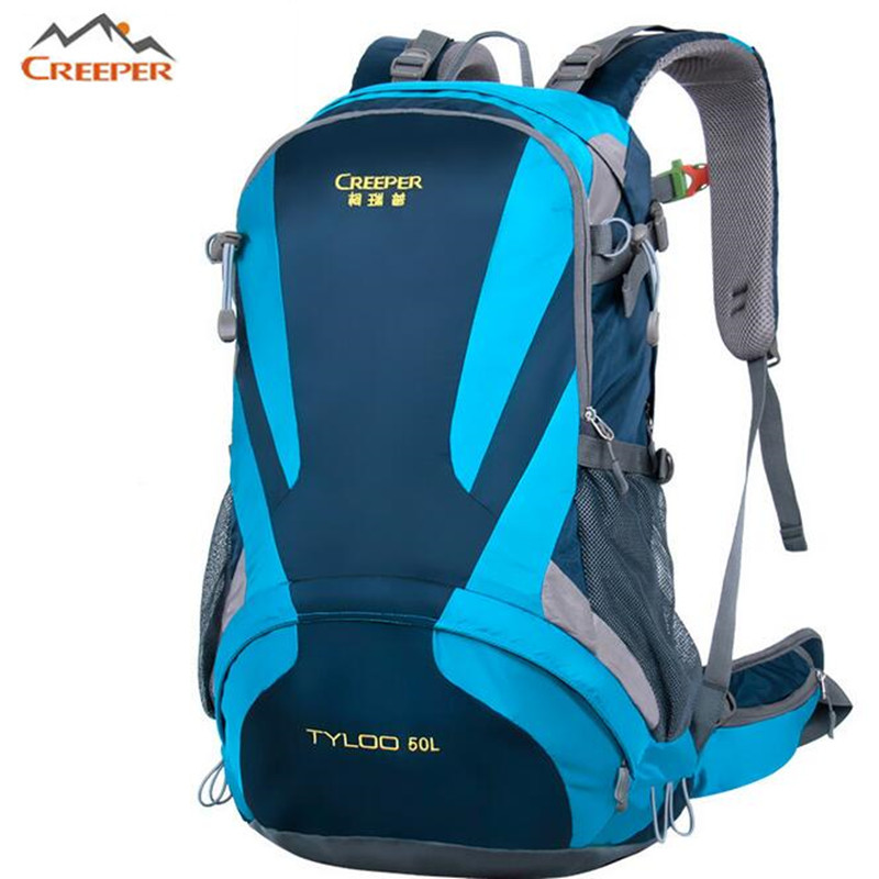Creeper Brand 50L Waterproof Nylon Backpack women font b bag b font Mountaineering Travel Backpack font