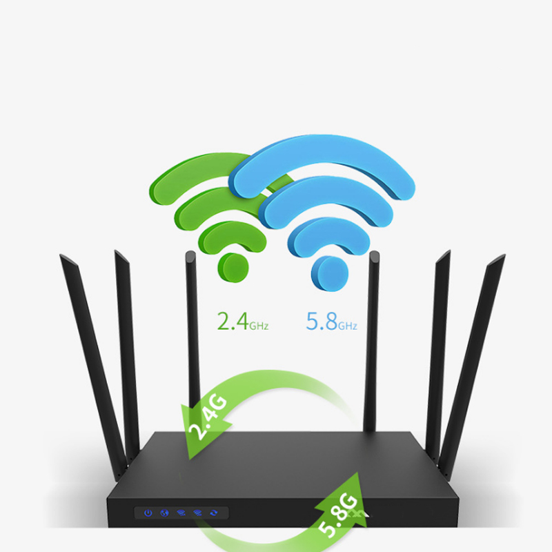 1750mpbs Wifi Router Dual Band Wide Coverage High Power With Antenna Router Lcc77