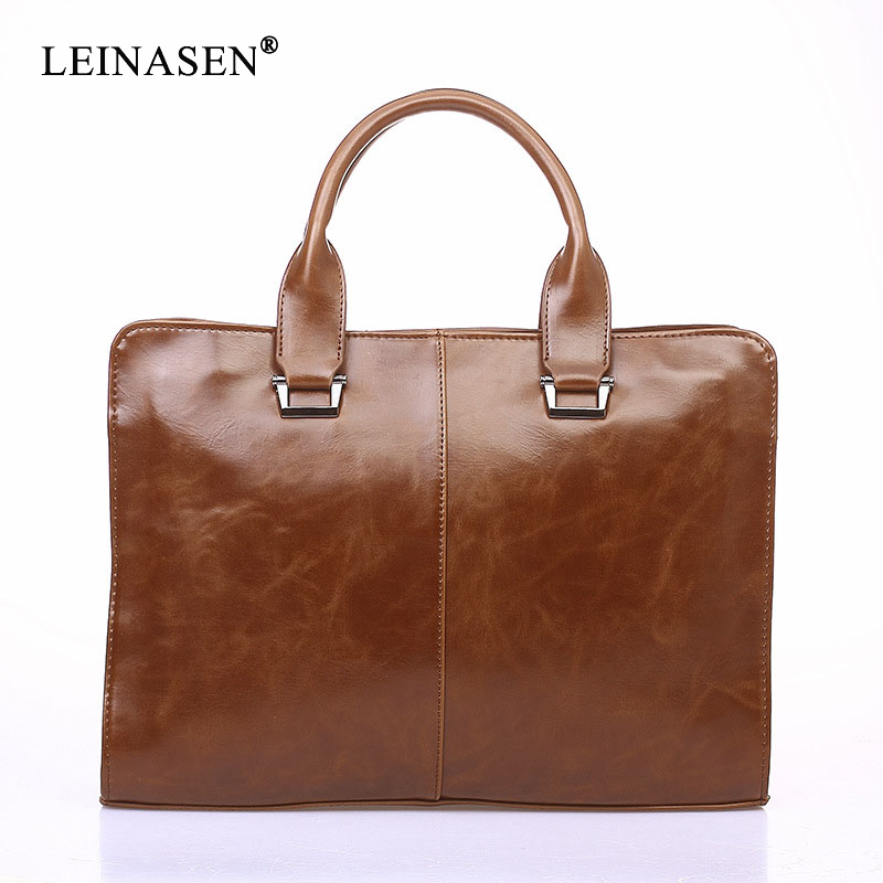 Fashion Messenger PU Leather Business Office Men Bags Business Computer Austere Briefcases Shoulder Bag Luxury Casual Crossbody