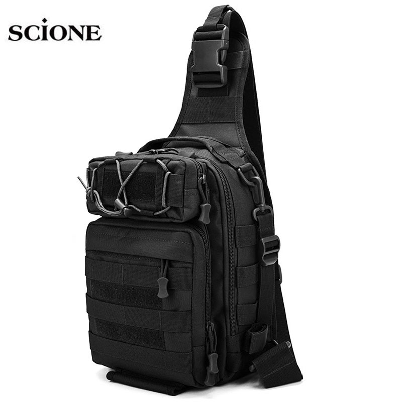 Tactical Belt Chest Bag Sling Bags  Military Army Molle Hunting Backpacks Sports Shoulder Backpack Mochila Camping Men XA663WA