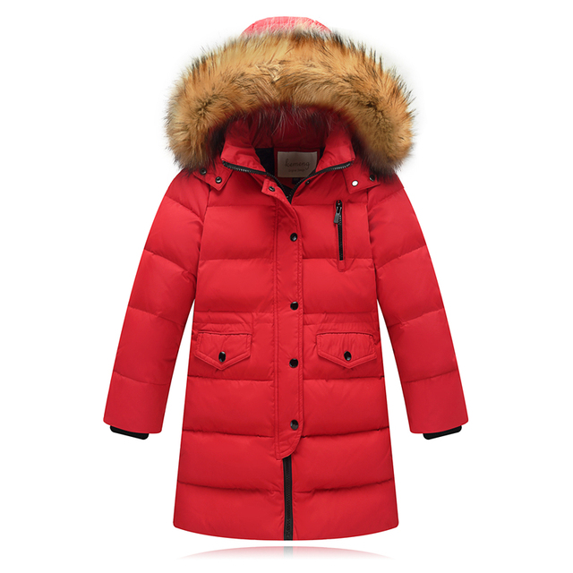15e233a63 Children Winter Jacket Made of Goose Feather Winter for Girls Boys ...