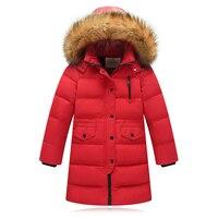 Clildren Winter Jacket 2017 Fashion Boys Girls New Style Fur Hooded Children S Parka Coat Kids