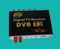 2017 NUEVA CAJA HD TV de Radiodifusión de Vídeo Digital Terrestre Receptor DVB-T2 dvb-t para el COCHE TV receptor del automóvil