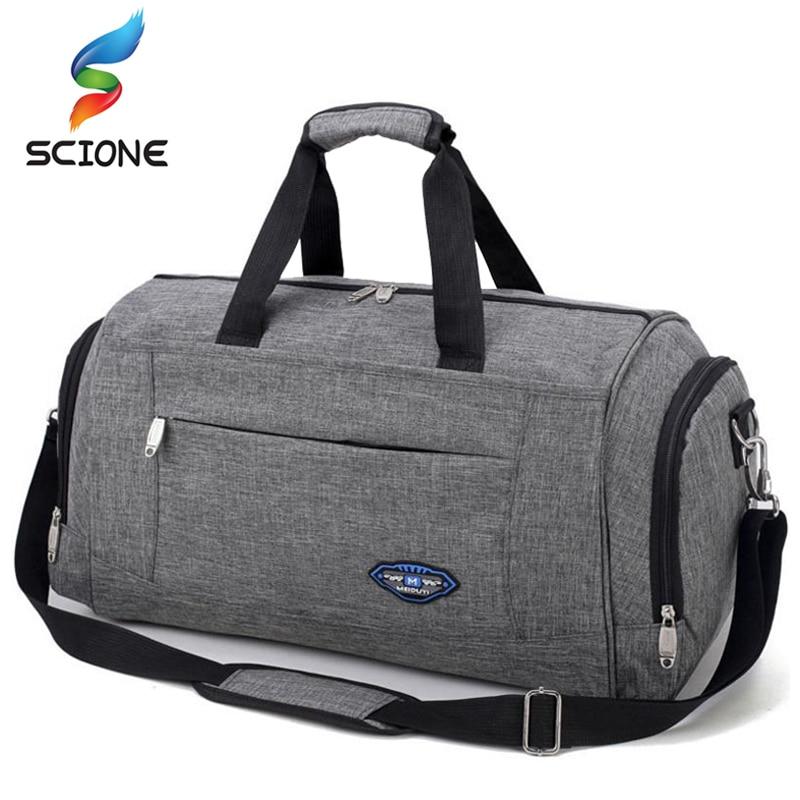Hot Nylon Waterproof Sports Gym Bag Men Women Profession Training Fitness Yoga Shoulder Bag Travel Handbag Luggage Crossbody Bag