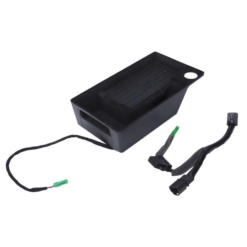 10 Вт автомобильный мобильный телефон Qi беспроводной зарядный Модуль консоль коробка для хранения для Audi A4L A5 S4 2017 2019 автомобильные аксессуа...