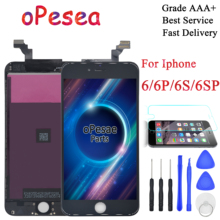цена на oPesea Grade AAA For iphone 6 6G 6 Plus 6s 6s Plus New LCD Display Panel Touch Screen Digitizer Assembly Replacement