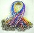 Оптовая 100 шт. цвет Смешивания (ПВХ) Резина ожерелье шнур, шнур Ювелирных Изделий бисероплетение шнуры