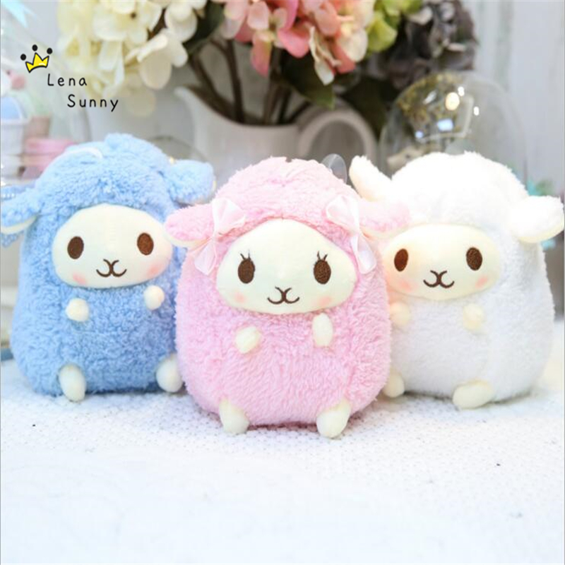 12Pcs lot 20CM Kawaii Amuse Lamb Sheep Plush Stuffed Toy Wedding Grabbing Doll Promotional Graduation Kids