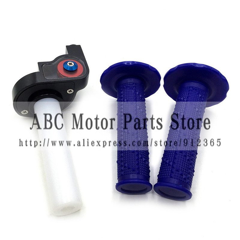 Handle Grips With Throttle 1/4 Settle Twist Throttle Clamp Plastic Aluminum For Motorcycle Pit Dirt Bike Motocross ATV Offroad