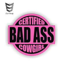 Helmet-Sticker Decal Label Western Cowgirl Rodeo EARLFAMILY 12cm-X-10.7cm Hard-Hat Bad-Ass