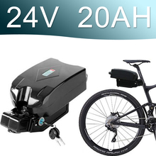 24V 500W Lithium ion Battery fro g typ Rear 20AH Battery Pack 24V Electric bicycle 24v E-bike battery цена в Москве и Питере