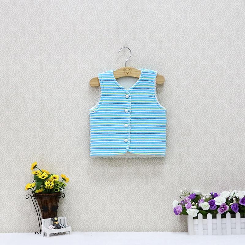 Baby Mädchen Winter Kleidung Kinder Weste Mantel Velours Außerhalb + Korallen Fleece Innen Doppel Schicht Warme Dicke Kleidung Für Jungen Und Mädchen