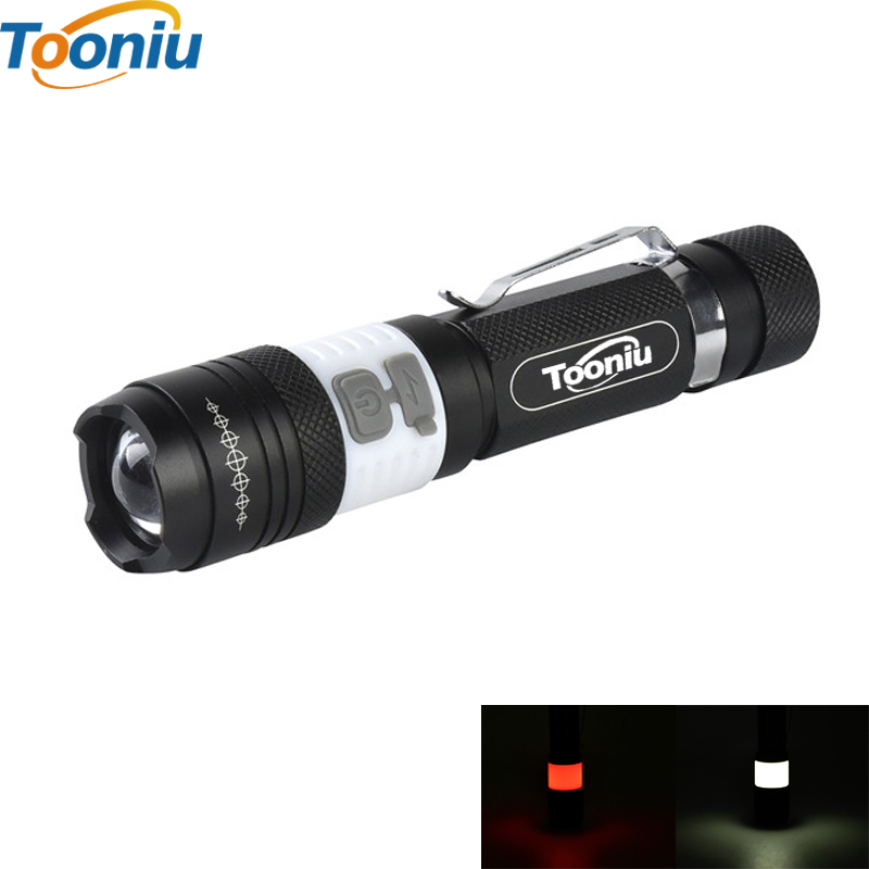 COB USB LED Flashlight 18650 Zoom Torch Waterproof Flashlights XM-L T6 3800LM 3 Mode Led Zoomable Light for Hunting Camping e17 xm l t6 3800lm aluminum waterproof zoomable led flashlight torch light for 18650 rechargeable battery or aaa
