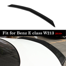 V Style Real Carbon Fiber Rear Trunk Wings For Mercedes E class W213 2016-in Spoilers