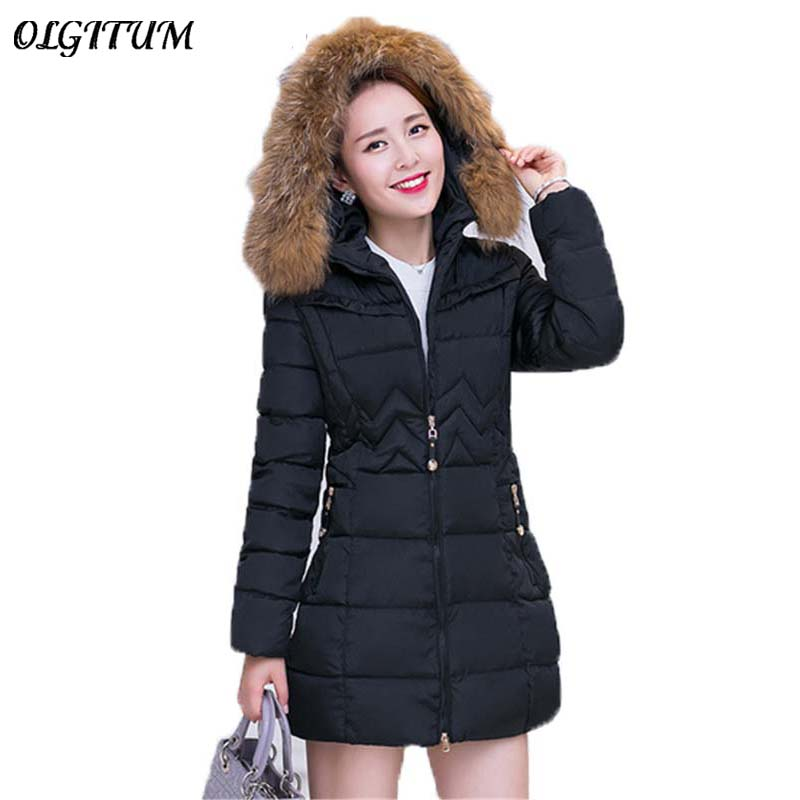 2019 Fashion Women winter jacket Long Style   Parkas   Coat Slim Casual Winter Coat Women Warm   Parka   Plus Size Manteau Fe